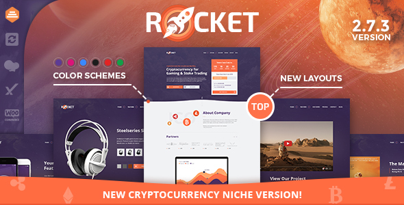 Rocket - Creative Multipurpose WordPress Theme - Creative WordPress