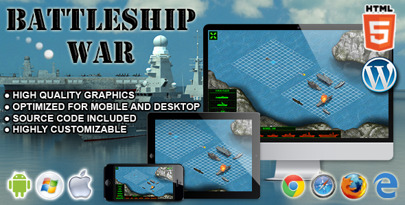 Battleship War - HTML5 Skill Game - CodeCanyon Item for Sale