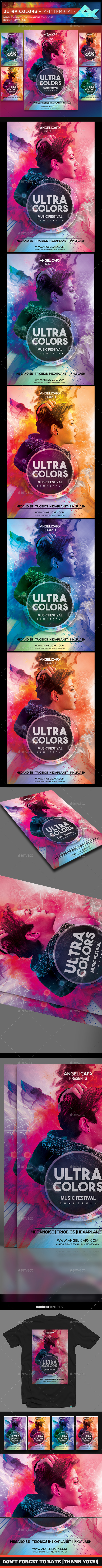 Ultra Colors Photoshop Flyer Template