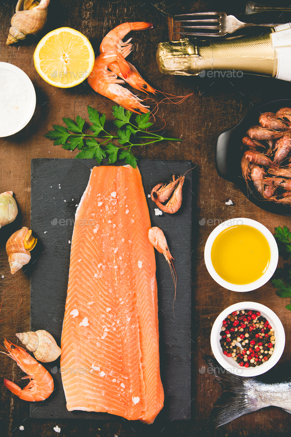 salmon fillet - Stock Photo - Images