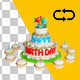 3 Floor Birthday Cake and Cupcakes - VideoHive Item for Sale