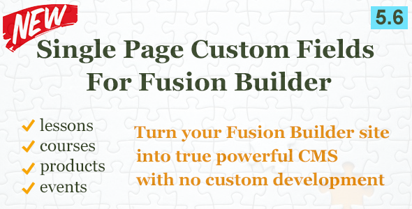 Custom Field Element for Fusion Builder - CodeCanyon Item for Sale