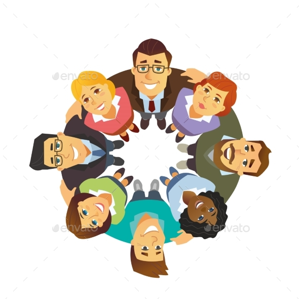 Business Team - Cartoon People Character Isolated - People Characters