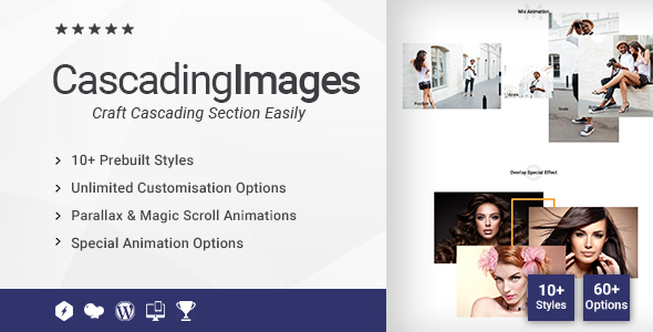 Cascading Images/Slider Addon for WPBakery Page Builder (formerly Visual Composer) - CodeCanyon Item for Sale