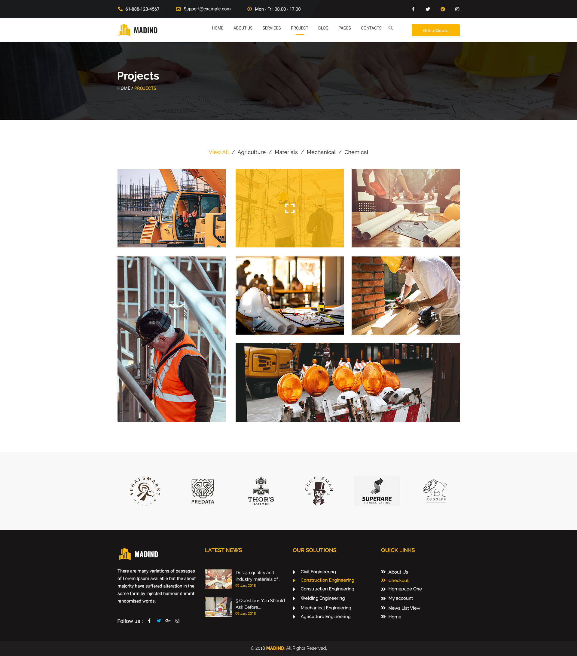 Madind Construction Business Html Template By Idealbrothers