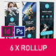 Rollup Stand Banner Display Triangle 6x Indesign and Photoshop Template - GraphicRiver Item for Sale