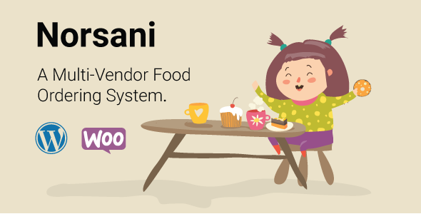 Norsani Multi-vendor food ordering system (WooCommerce)