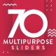 Multipurpose Sliders - 70 Designs - Updated! - GraphicRiver Item for Sale