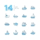 Water Transport - Thin Line Design Icons Set - GraphicRiver Item for Sale