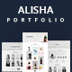 Alisha | Creative Personal Portfolio Template - ThemeForest Item for Sale