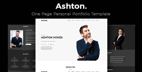 Ashton - One Page Portfolio Template