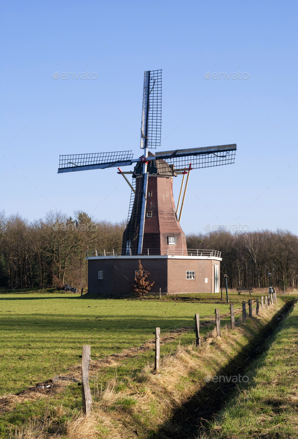 Windmill Sint Victor - Stock Photo - Images