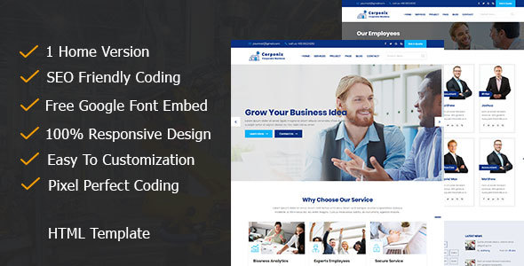 Image of Corponix - Corporate & Business Responsive Template