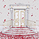 Door Opening Falling Red Petals - VideoHive Item for Sale