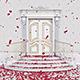 Door Opening Falling Red Petals - VideoHive Item for Sale