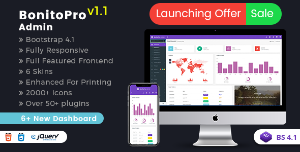 Bonito Pro - Bootstrap 4 Admin Templates & Web Apps Dashboards