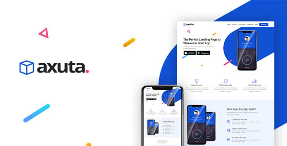 Axuta | App Landing Page Template - Apps Technology