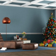 Living room of a mountain house with Christmas tree - PhotoDune Item for Sale