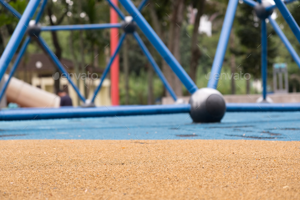 Children playground with foreground in focus - Stock Photo - Images