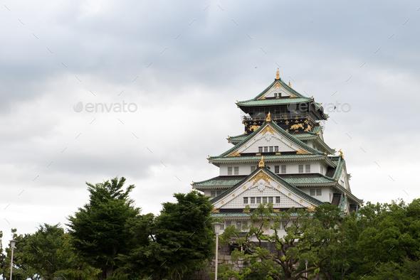 Osaka Castle Japan - Stock Photo - Images