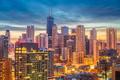 Chicago, Illinois, USA Skyline at Dusk - PhotoDune Item for Sale