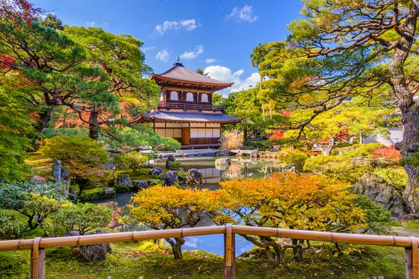Ginkaku-ji Temple in Kyoto - Stock Photo - Images