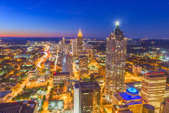 Atlanta, Georgia, USA Skyline - Stock Photo - Images