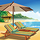 Holiday on an Exotic Island Retro Poster - GraphicRiver Item for Sale