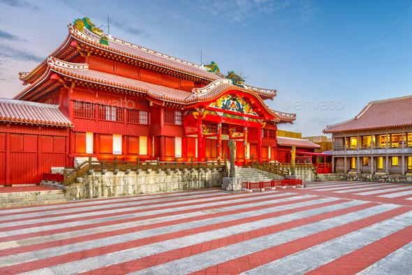 Shuri Castle, Okinawa, Japan - Stock Photo - Images
