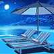 Picturesque Beach at Night - GraphicRiver Item for Sale