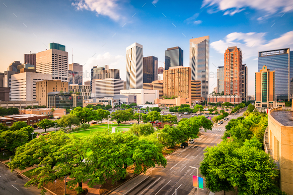 Houston, Texas, USA Skyline - Stock Photo - Images