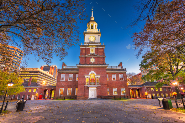 Independence Hall in Philadelphia - Stock Photo - Images