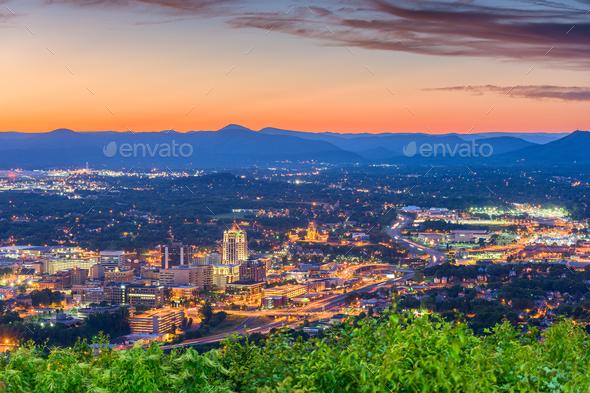 Roanoke, Virginia, USA Skyline - Stock Photo - Images