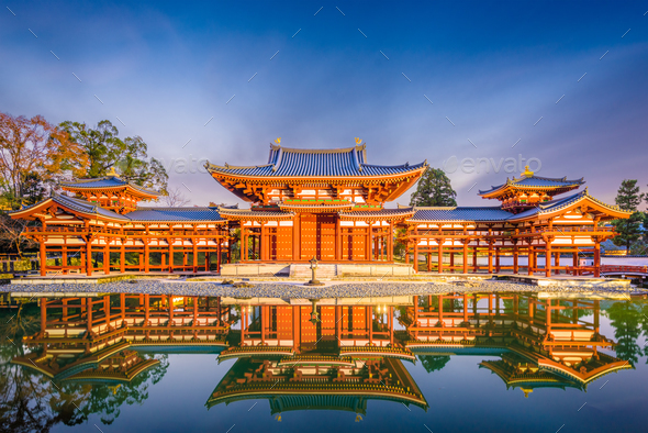 Byodo-in Temple, Kyoto, Japan - Stock Photo - Images