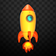 Isolated Cartoon Space Rocket II - VideoHive Item for Sale