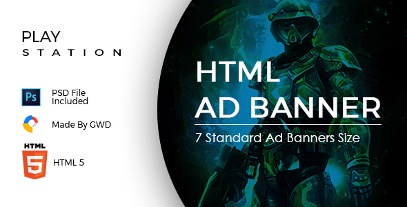 Gaming Ad Banners - CodeCanyon Item for Sale
