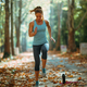 Woman Exercising Outdoors in The Fall - PhotoDune Item for Sale