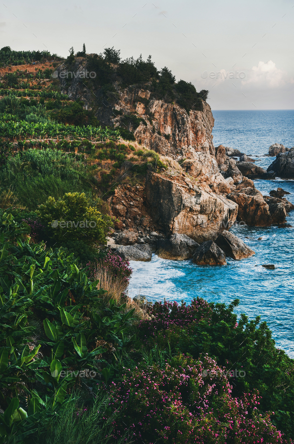 Mediterranean Landscape With Sea Stock Photo By Sonyakamoz Photodune