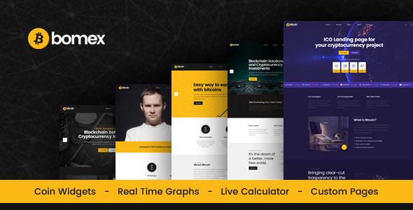 Bomex - Cryptocurrency & Bitcoin HTML Template - Business Corporate