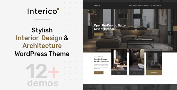 Image of Interico - Stylish Interior Design & Architecture WordPress Theme