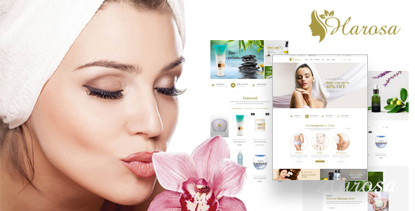 Harosa - Cosmetics and Beauty eCommerce Bootstrap4 Template - Health & Beauty Retail