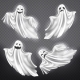 Vector Set of White Ghosts