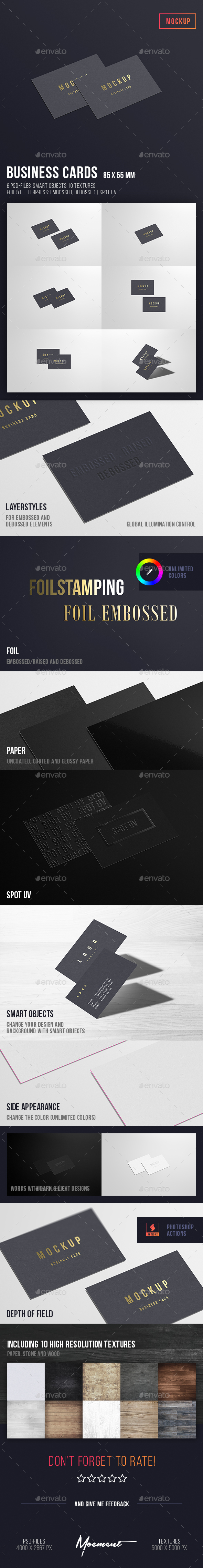 Business Cards Mockup 85x55 - Business Cards Print