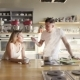 A Happy Nice European Couple Is Cooking and Tasting Soup in the Kitchen - VideoHive Item for Sale