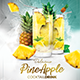 Pineapple Cocktail Drink Fl-Graphicriver中文最全的素材分享平台