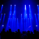 Stage lights and silhouette of crowd at concert - PhotoDune Item for Sale