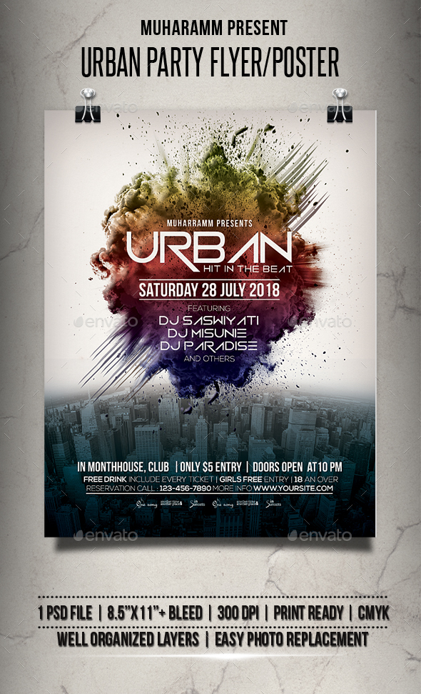 Urban Party Flyer / Poster - Events Flyers
