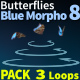 Butterfly Blue Morpho 8 - VideoHive Item for Sale