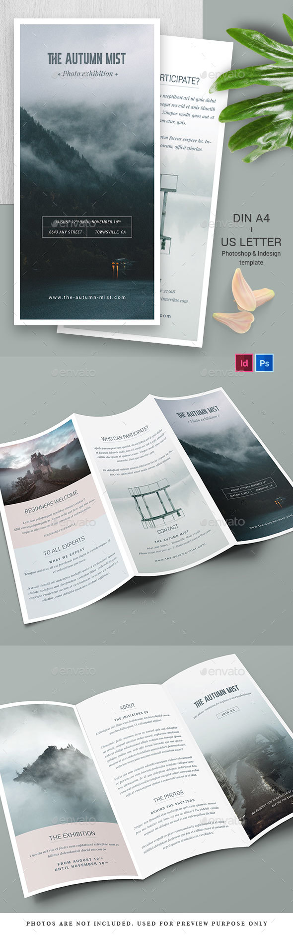 Multipurpose Trifold Brochure - Brochures Print Templates
