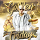 Golden Fridays Flyer - GraphicRiver Item for Sale